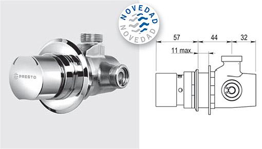 Grifer a temporizada duchas mezcladoras presto alpa 80 for Llave tubo para valvula de ducha