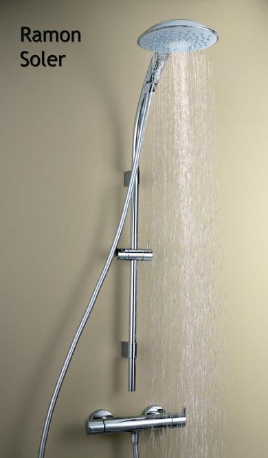 Conjuntos de ducha y barras para cuartos de ba o hogar for Conjunto de ducha sin grifo