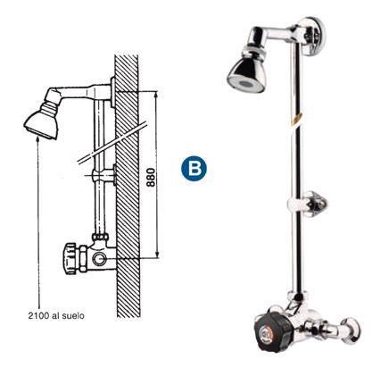 Grifer a temporizada duchas mezcladoras presto alpa 80 for Temporizador ducha