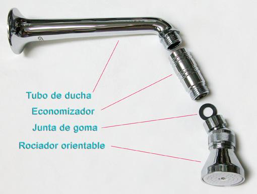 Ayuda montaje adaptaci n economizador de ducha a duchas for Partes de una llave de ducha