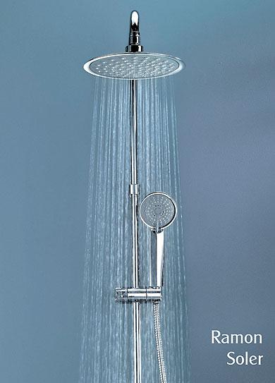 Sistemas de ducha con gran rociador ramon soler for Monomando termostatico ducha