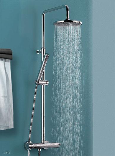 Conjuntos de ducha y barras para cuartos de ba o hogar for Griferia completa para bano precios