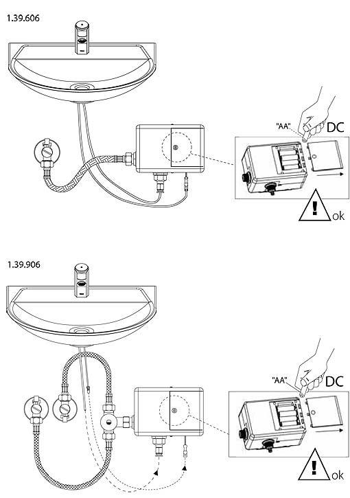 Grifer a temporizada electr nica grifos temporizados de - Lavamanos sin instalacion ...