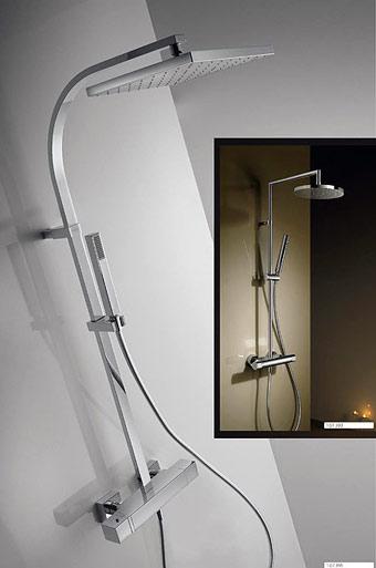 Rociadores de ducha fija para pared o techo grifer a tres for Duchas de techo precio