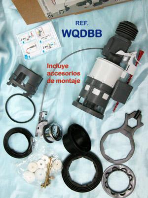 Ahorradores de agua cisternas descarga wc doble bot n for Desmontar descargador cisterna roca
